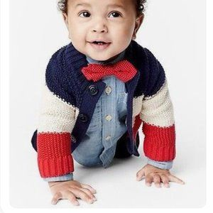 Baby Gap Cotton Striped Cardigan | 6-12m